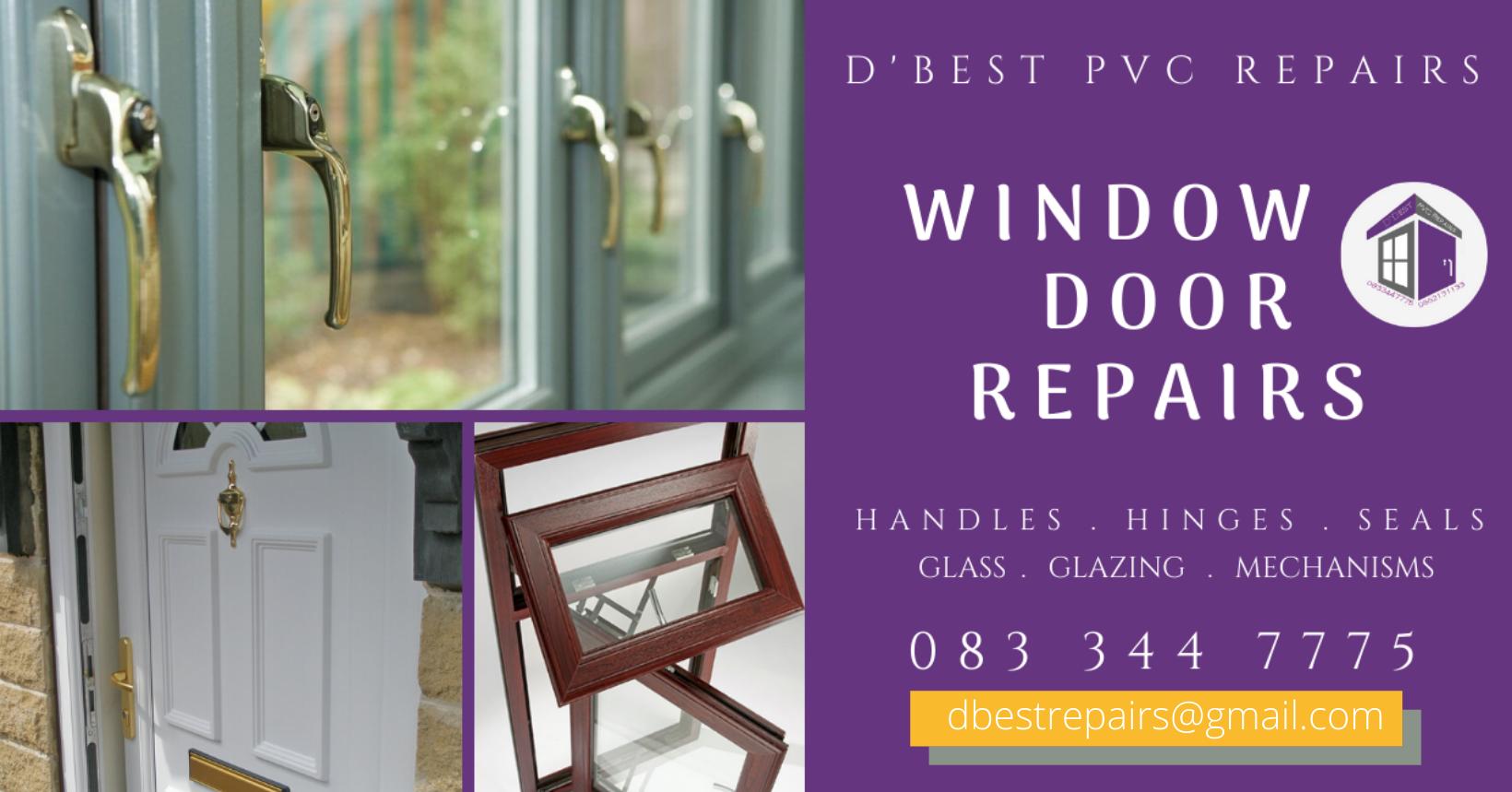 PVC Window and Door Repairs dublin Westmeath Meath Longford Cavan Leitrim and Roscommon