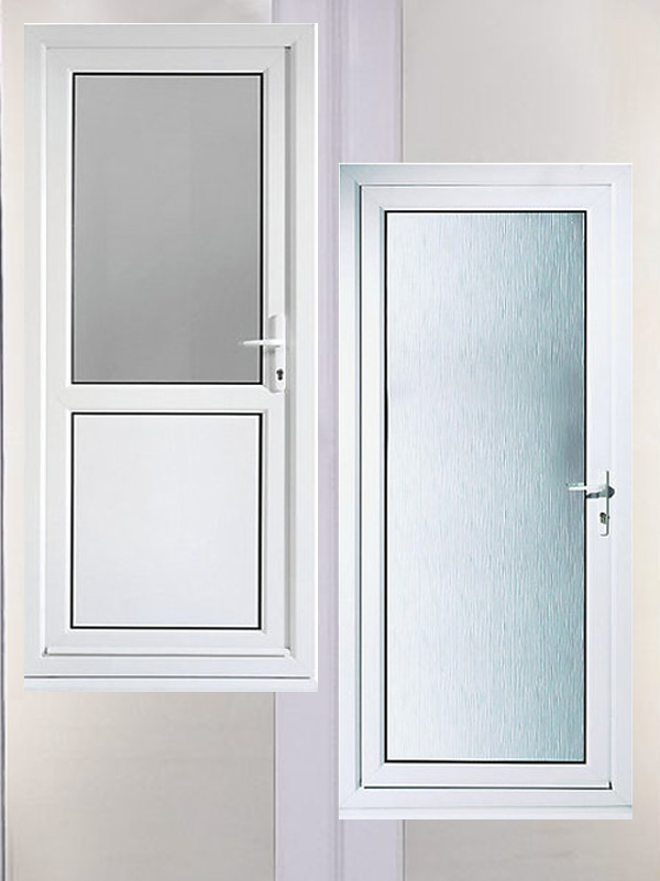 pvc back doors for sale - order and pay for your pvc back doors - full glass back door - half glass half panel back door