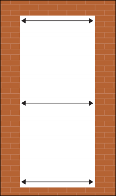 MEasure your new door plaster to plaster and brickwork to brickwork side to side