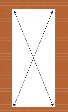 measure for new composite door - square