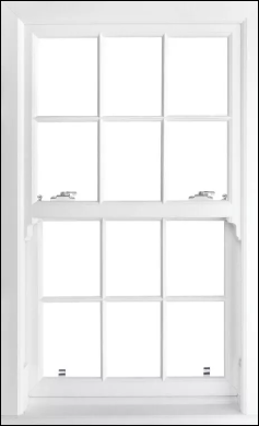 D'Best vertical sliding sash windows combine traditional style with the added bonus of modern PVC technology