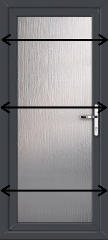 How to measure for a new pvc door - measure sides in three places